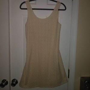 3 for $10💖Cream Colored Mini Dress w/Tie Back M